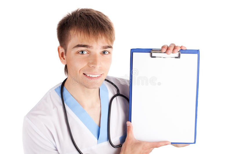 Download Medical Doctor Holding Clipboard Isolated On White Royalty Free Stock Photo - Image: 19756885