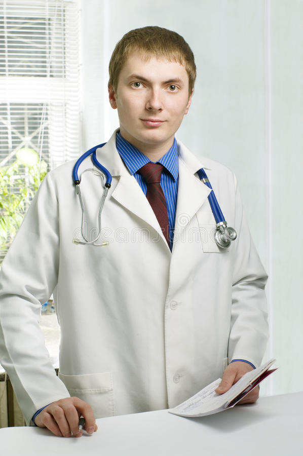 a medical doctor in hospital stock image