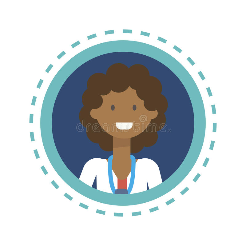 Medical Doctor Icon Clinics Hospital Medicine Worker Online Consultation Button. Flat Vector Illustration stock illustration