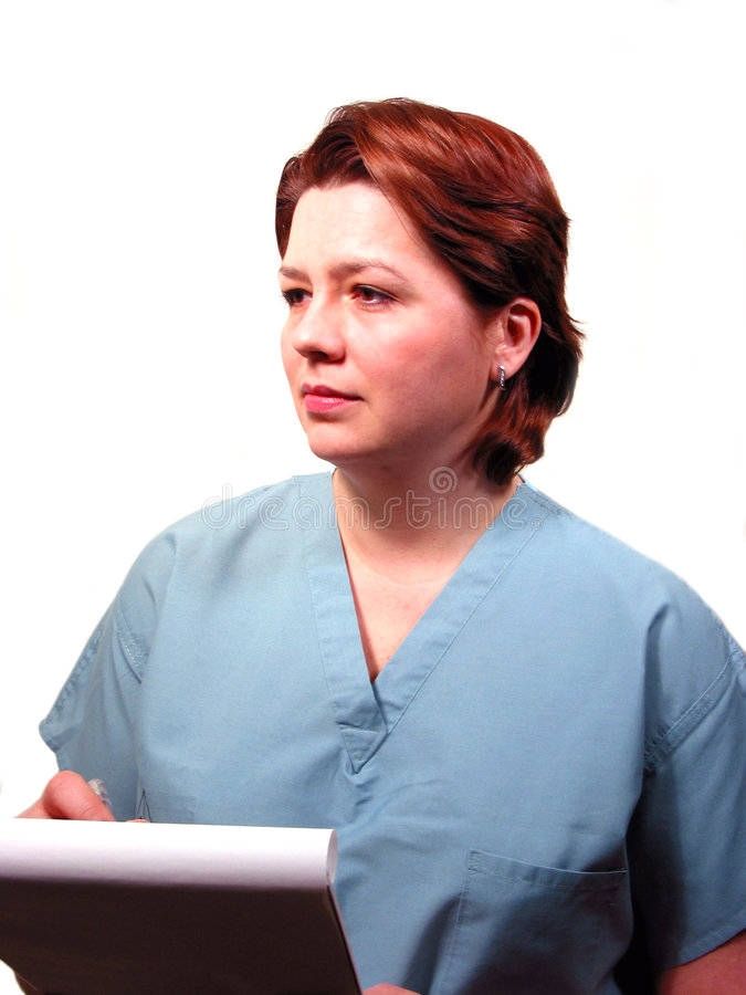 Medical doctor or nurse stock image