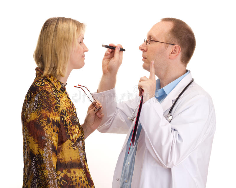 Download Medical doctor and patient stock image. Image of clinical - 26223857
