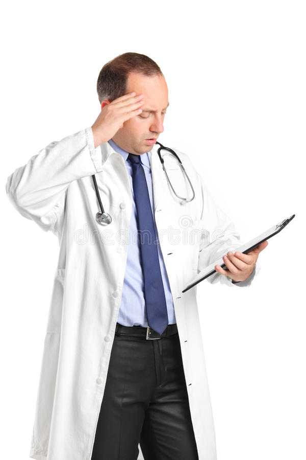 A Medical Doctor Realizing A Mistake Stock Photography