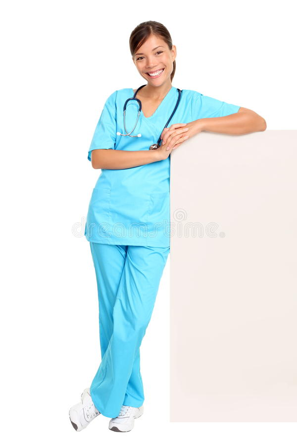 Free Medical Doctor Showing Blank Sign Royalty Free Stock Images - 17822059