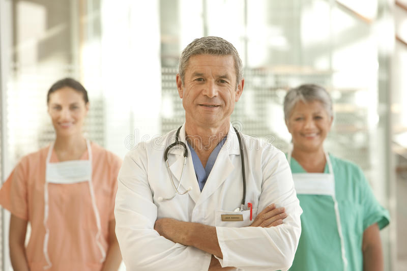Medical doctor and staff royalty free stock images