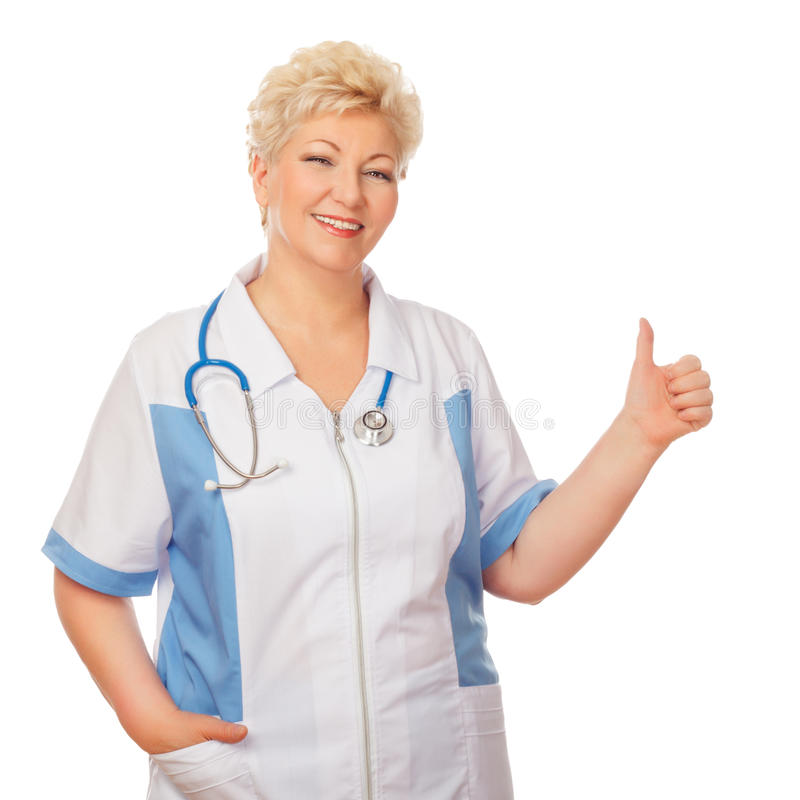 Download Medical Doctor Woman Shows Thumb Stock Image - Image of care, healthcare: 30680453