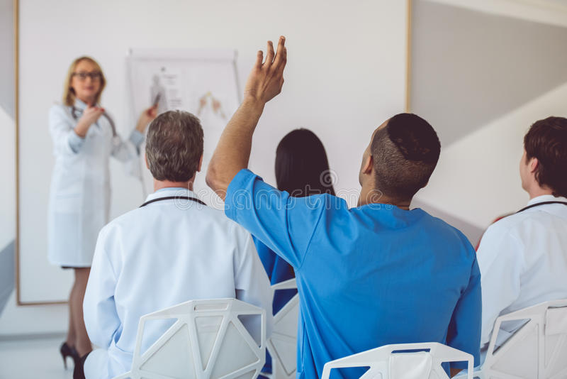 Medical doctors at the conference stock photos