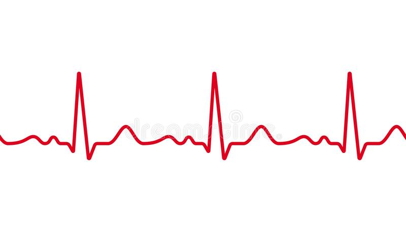 Heart cardiogram pulse vector heartbeat royalty free illustration