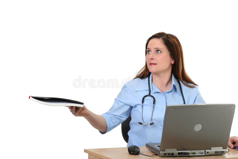 Medical employee stock photo