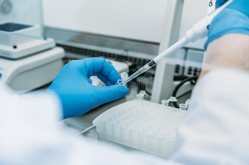 Medical equipment for blood tests. And laboratory research royalty free stock photography