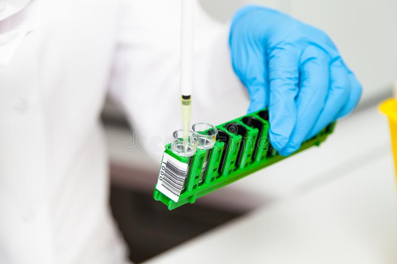 Medical equipment for blood tests. And laboratory research stock photo
