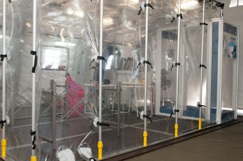 Medical equipment for ebola or virus pandemic. Medical equipment for ebola or other virus pandemic stock photos
