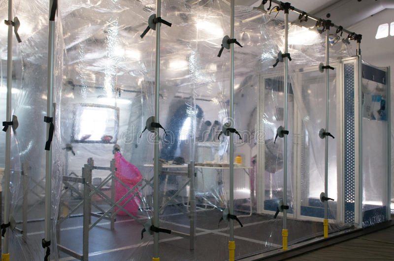 Medical equipment for ebola or virus pandemic. Medical equipment for ebola or other virus pandemic stock images