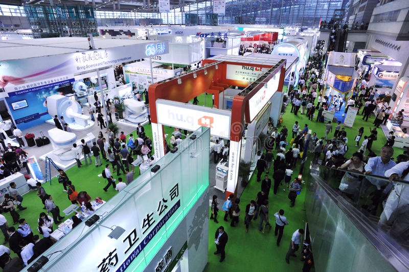Medical equipment fair at china stock photography