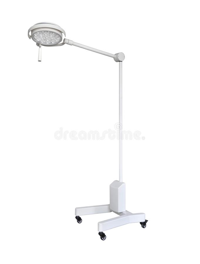 Mobile Hospital lighting under the white background. Medical Equipment. Technology of medical and hospital services. image for background, objects, copy space stock illustration