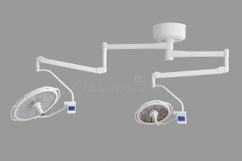 Mobile Hospital lighting under the white background. Medical Equipment. Technology of medical and hospital services. image for background, objects, copy space royalty free illustration