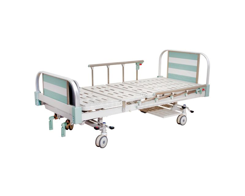 Mobile Hospital Bed under the white background. Medical Equipment. Technology of medical and hospital services. image for background, objects, copy space vector illustration