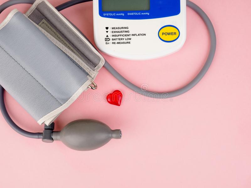 Medical equipment to check hart health, Manual blood pressure sphygmomanometer royalty free stock photography