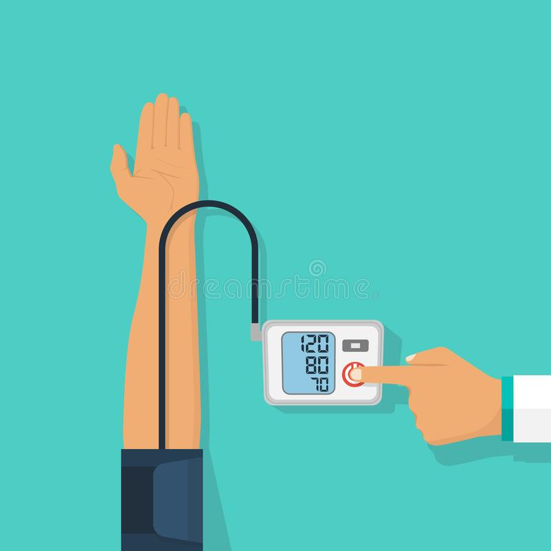 Medical equipment tonometer stock illustration