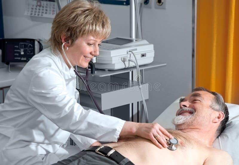 Medical exam stock photography