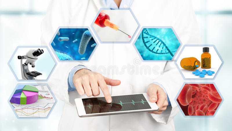 Medical exam concept vector illustration
