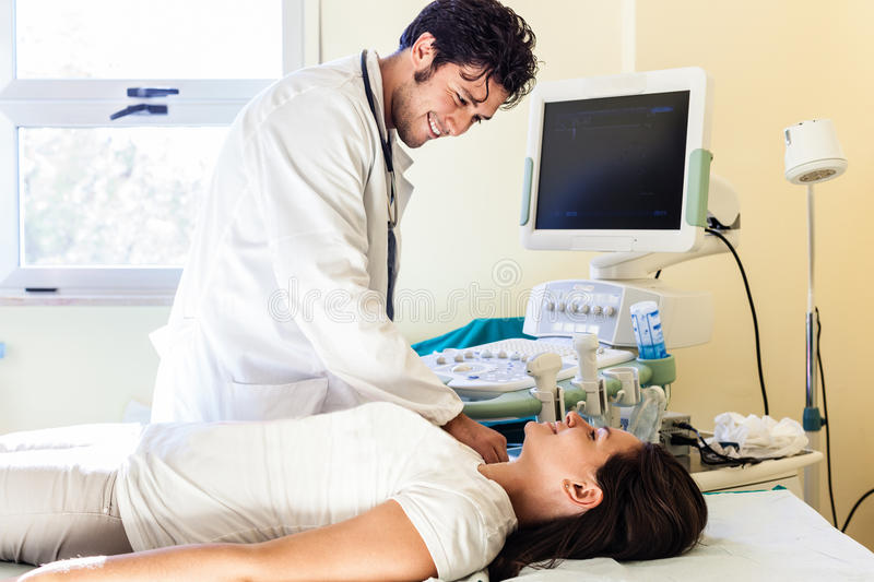 Medical exam stock images
