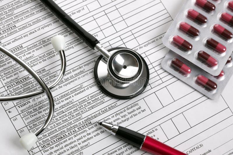 Download Medical examination form stock image. Image of hospital - 18736657