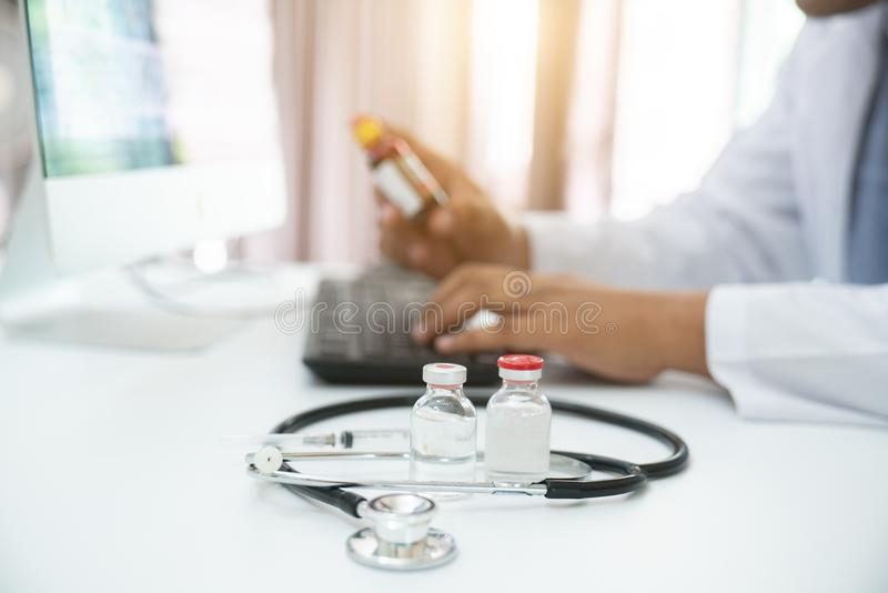 Medical examination 1 2. 3 stock photo