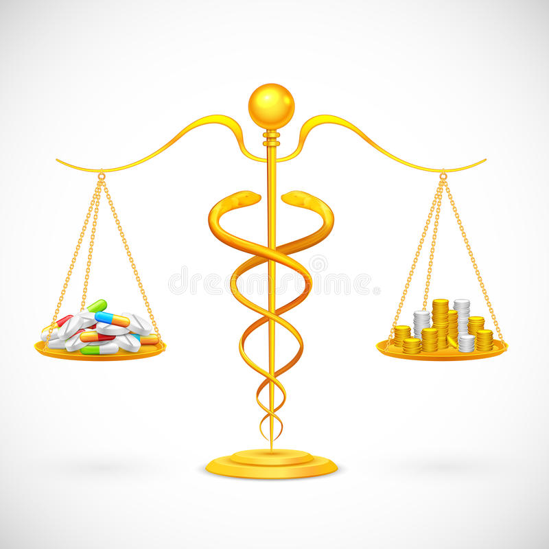 Medical Expenses royalty free illustration