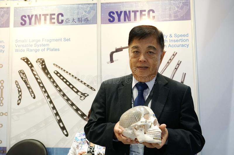 Medical Fair Thailand held at QSNCC exhibitional Hall which pres stock photo