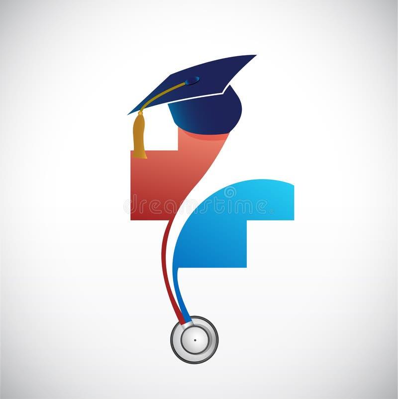 medical field graduation concept illustration vector illustration