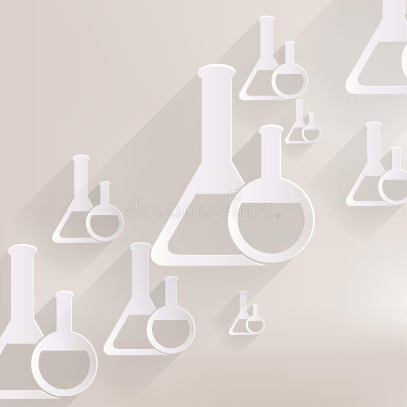 Medical flack, chemical eequipment web icon royalty free illustration