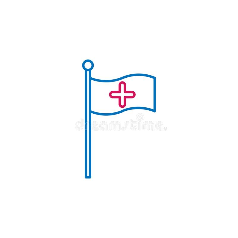 Medical, flag colored icon. Element of medicine illustration. Signs and symbols icon can be used for web, logo, mobile app, UI, UX. On white background royalty free illustration