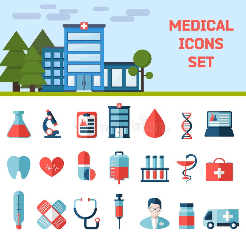 Medical Flat Infographic Background stock illustration