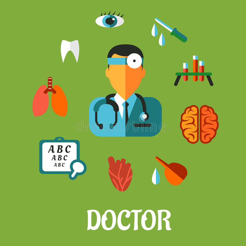 Medical flat infographic concept vector illustration