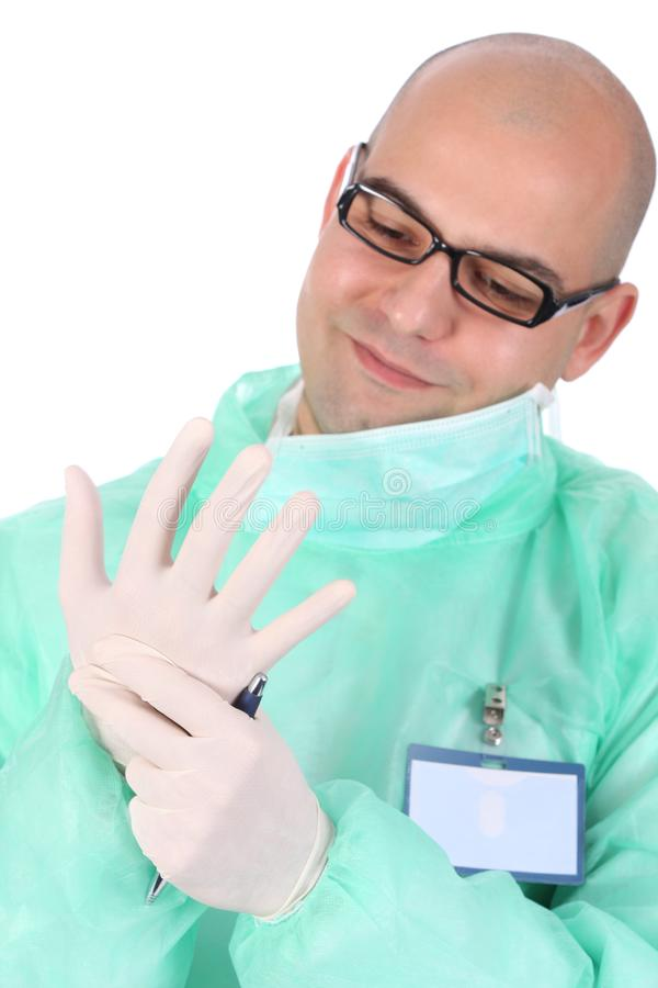 Medical gloves royalty free stock image