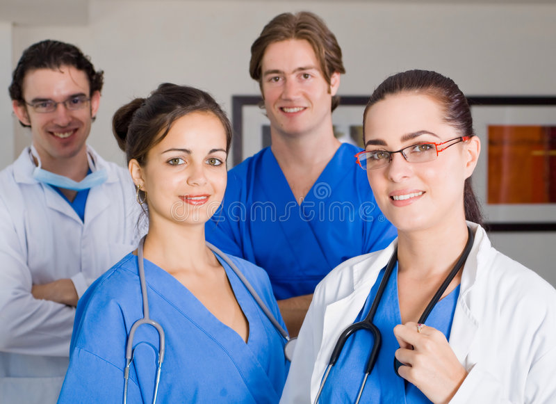 Medical group stock images