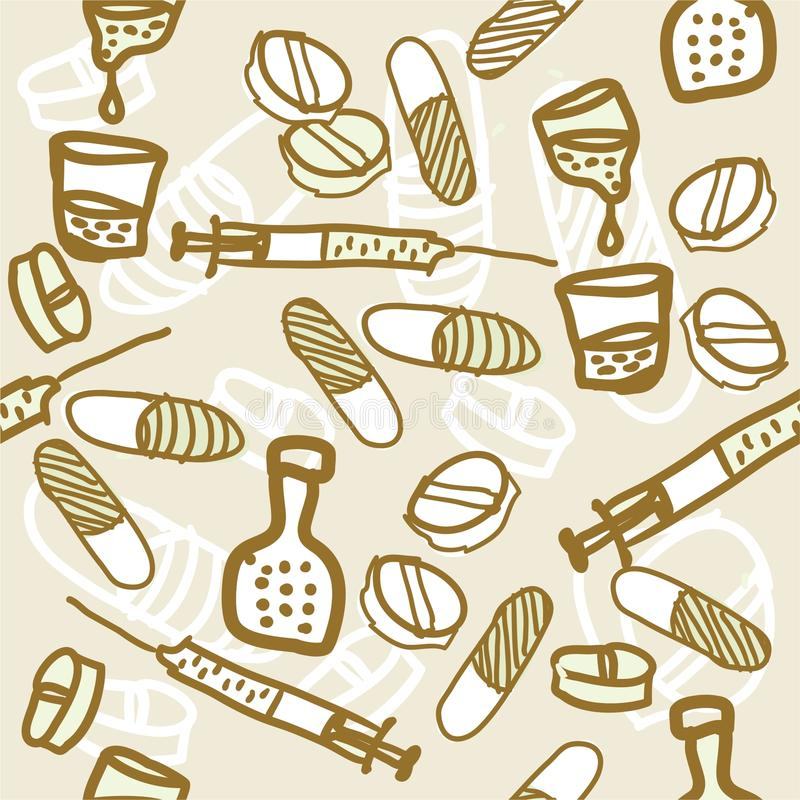 Download Medical Hand Drawn Seamless Pattern Stock Vector - Illustration of medical, vessel: 21519425