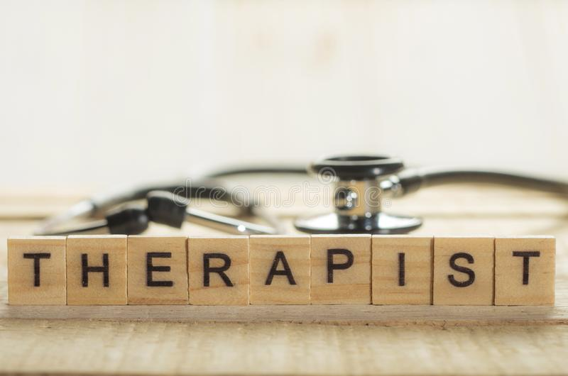 Medical and Health Care Concept, Therapist royalty free stock photo