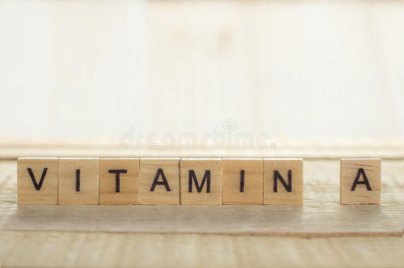 Medical and Health Care Concept, Vitamin A stock images