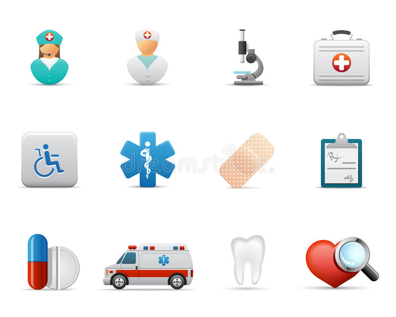 Download Medical And Health Care Icons Stock Vector - Illustration: 10895285