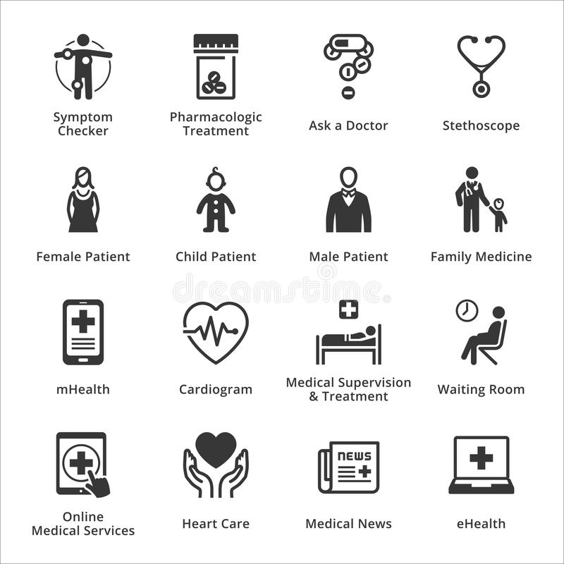Medical & Health Care Icons - Set 2 stock illustration