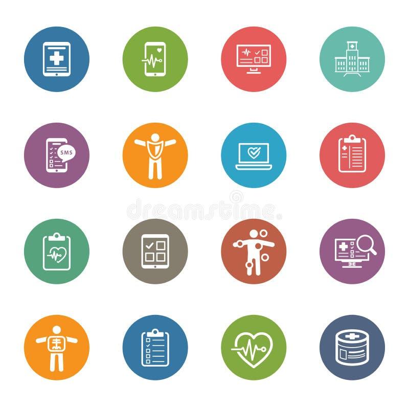 Medical & Health Care Icons Set. Flat Design. royalty free illustration