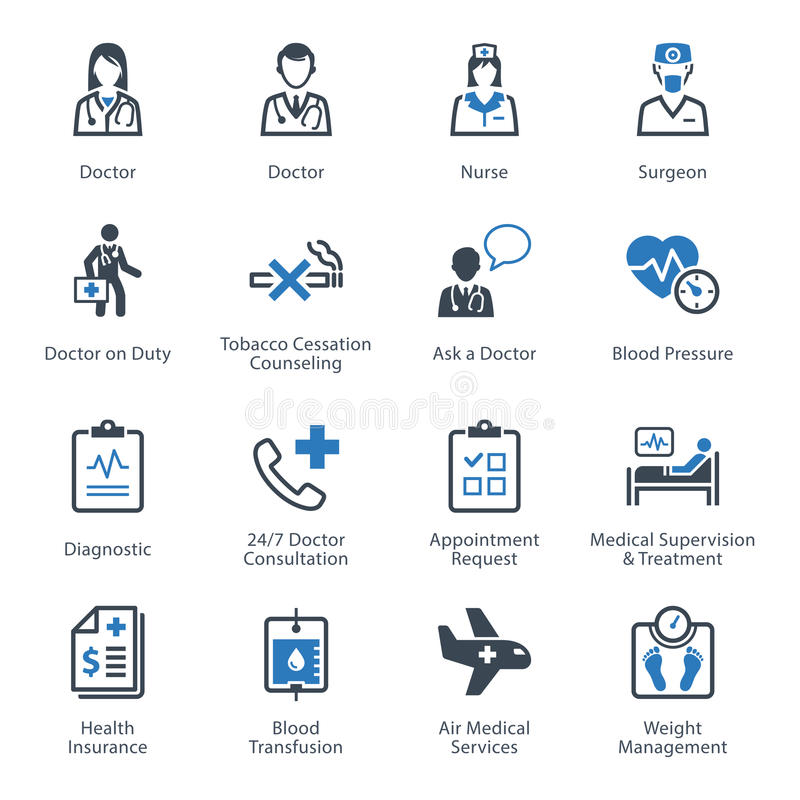 Medical & Health Care Icons Set 2 - Services royalty free illustration