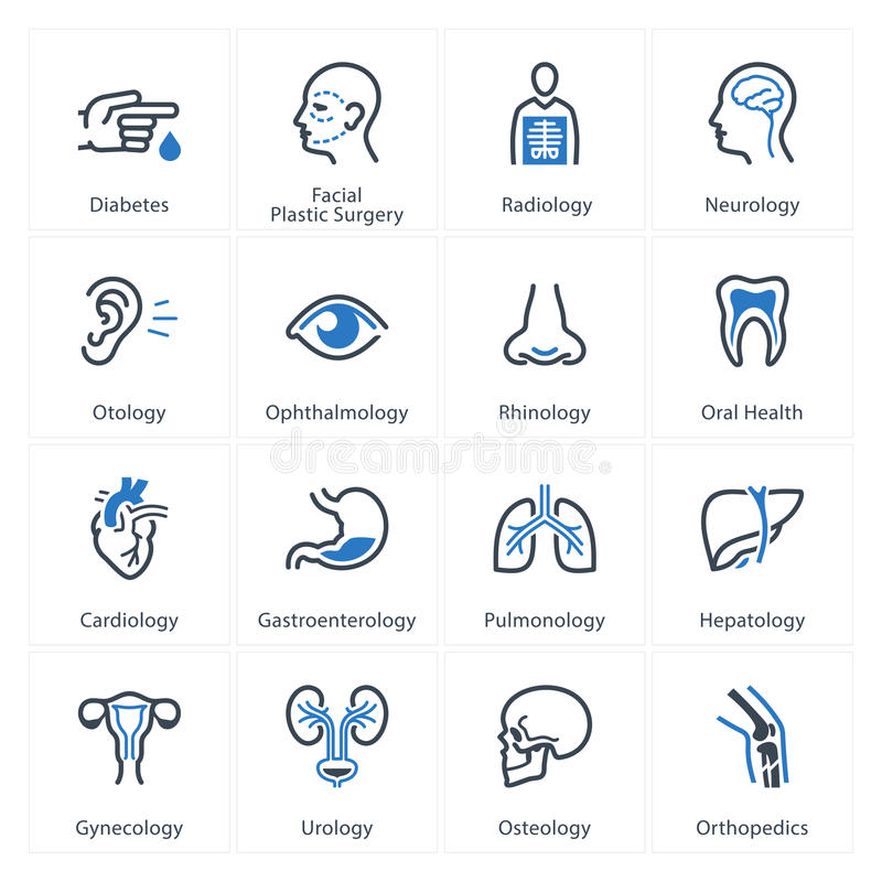 Medical & Health Care Icons Set 1 - Specialties vector illustration