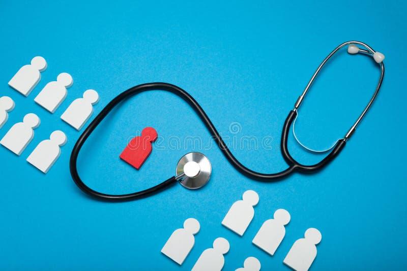 Medical health concept, assurance.  Stethoscope, insurance stock photo