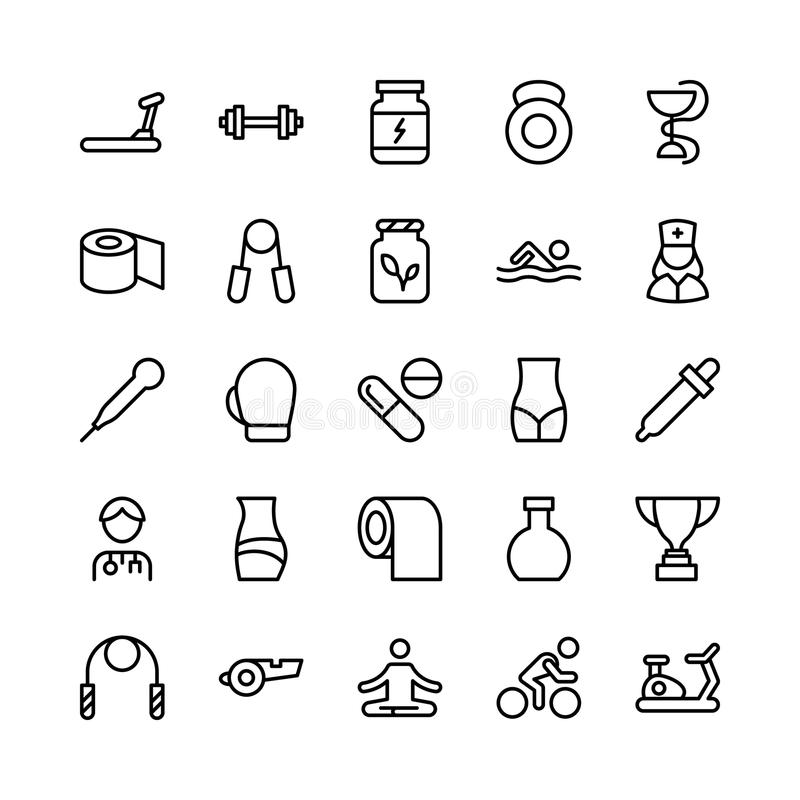 Medical, Health and Fitness Line Vector Icons 5. This Medical and Health Vector Icons Pack is filled with emergency and health related s that will prove to be so vector illustration