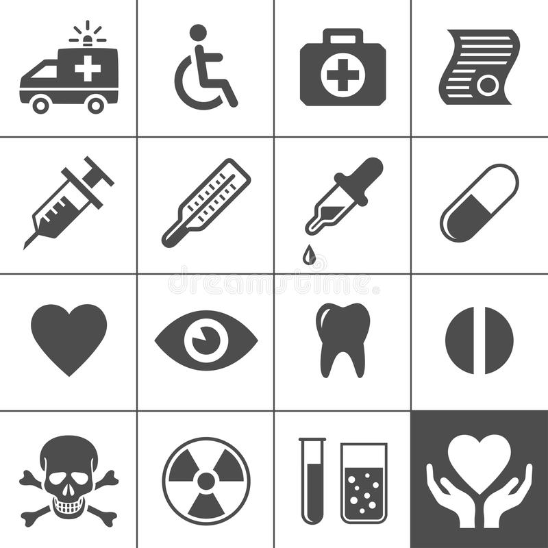 Download Medical And Health Icon Set Stock Photo - Image of drugstore, injecting: 32345600