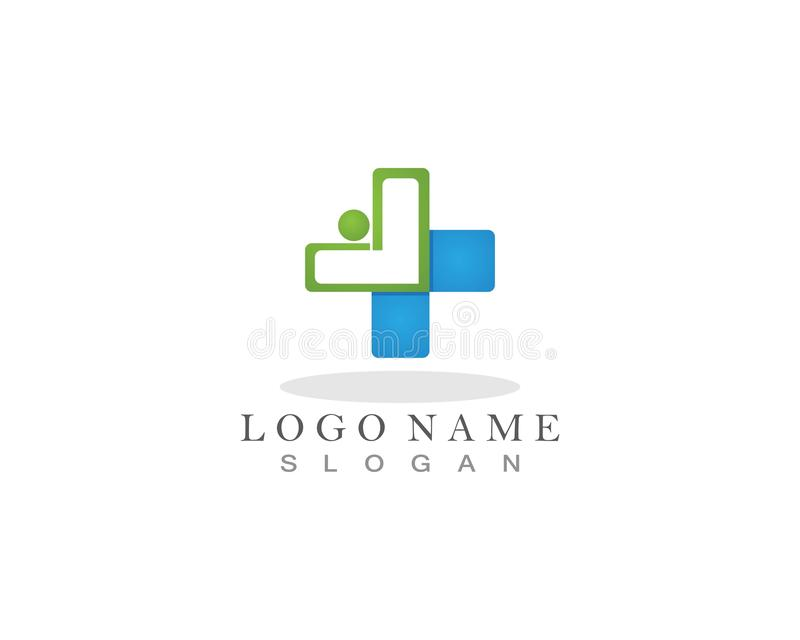 Medical and Health Logo and symbol template app royalty free illustration