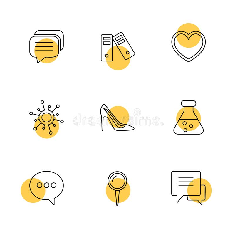 Medical , health , navigation , conversation , eps icons set vector. Medical , health , navigation , conversation , location , destination , share , compass royalty free illustration