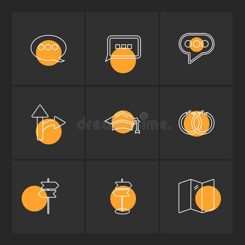 Medical , health , navigation , conversation , eps icons set vector. Medical , health , navigation , conversation , location , destination , share , compass stock illustration
